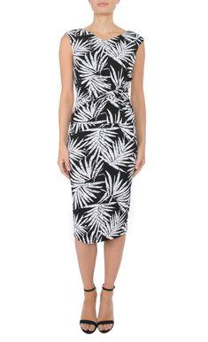 Womens Workwear | Black & White Jersey Dress