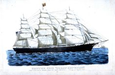 Nathaniel Currier - Clipper Ship Great Republic - Musée des Beaux Arts de San Francisco Clipper, San Francisco, Illustrations, Sailing Ships, Images, Boat, Fine Arts Museum, Fine Art Paintings, Dinghy