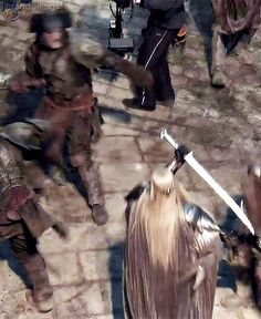 Thranduil in action Lee - dude, that's nasty & I love it!