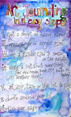 Art journaling in 6 EasySteps