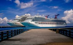 Statki, Pasażerskie, Carnival, Port, Molo, Morze