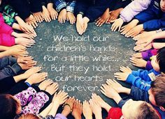 Like one of the other photos, it would be easy to take photos of a class of kids' hands in a heart shape.