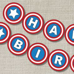 Could make cookies. Fourth Birthday, 6th Birthday Parties, Happy Birthday Banners, Birthday Fun, Birthday Ideas, Avenger Party, Captain America Party, Captain America Birthday, Avengers Birthday