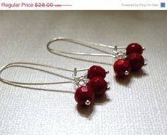 Winter Berries     Red Bamboo Coral by ScorpionMoonDesigns on Etsy, $25.00