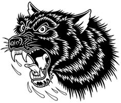 The Country Fucker Wolf Tattoos, Body Art Tattoos, Sleeve Tattoos, Tatoos, Tattoo Sketches, Tattoo Drawings, Dessin Old School, Mike Giant, Silkscreen