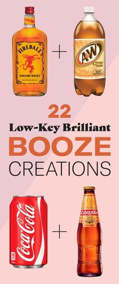 22 Bizarre Alcohol Combinations That Actually Taste Amazing Definitely plan on making a few of these! 22 Bizarre Alcohol Combinations That Actually Taste Amazing Definitely plan on making a few of these! Beste Cocktails, Cocktails Bar, Liquor Drinks, Cocktail Drinks, Cocktail Recipes, Bourbon Drinks, Fireball Drinks, Craft Cocktails, Cocktail Maker