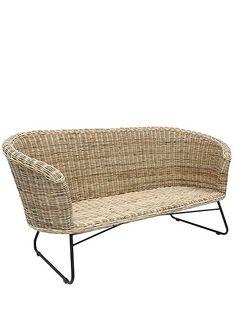 klassiker wundersch ne rattanbank gut geeignet f r drinnen und draussen mit ein paar. Black Bedroom Furniture Sets. Home Design Ideas