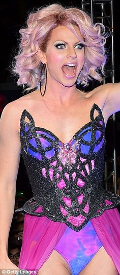 Courtney Act wasn't afraid to interact with the crowd that eagerly awaited the finale episode which would reveal the winning drag queen