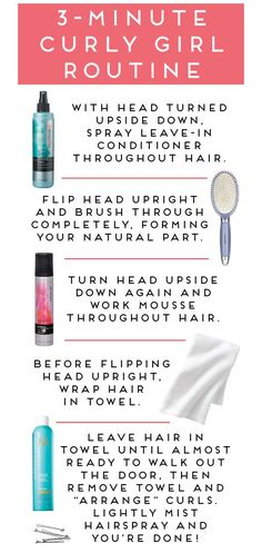 Curly hair tips instead of a brush I would use a wide toothed comb and instead of a towel on there so long I would use a cotton tshirt to reduce frizz.