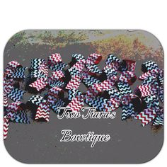 Pick any 15 Tick Tock Chevron Bling Cheer Bows for discounted price Team Bows on Etsy or Facebook by Two Tiara's Bowtique