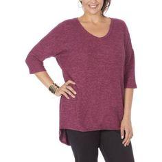 Plus Size Plus Moda Women's Plus Vneck Knit Tee, Size: 2XL, Orange