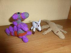 Kleiner Drache,Esel,Krokodil