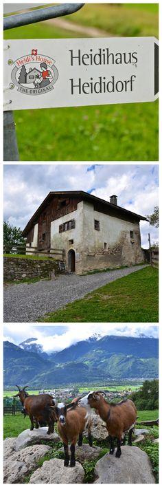"""Johanna Spyri's """"Heidihaus"""" (Heidi's House) in Maienfeld, Switzerland."""