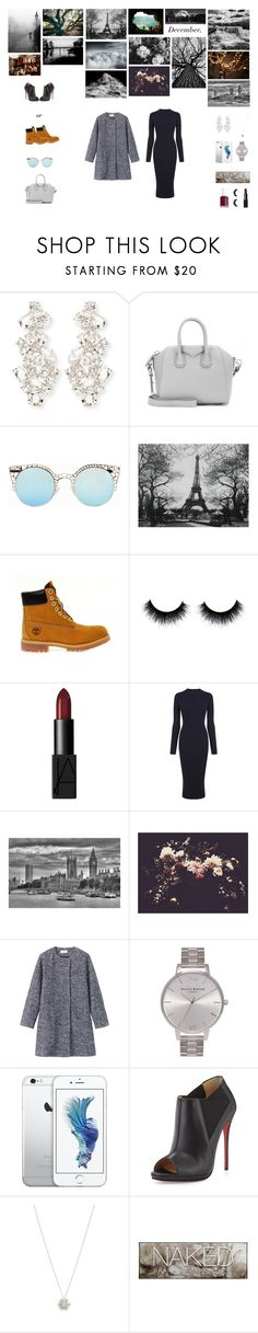 """""""❄️"""" by fashionphilosophies ❤ liked on Polyvore featuring Kate Spade, Givenchy, Quay, Timberland, NARS Cosmetics, Warehouse, Ashley Woodson Bailey, Toast, Olivia Burton and Christian Louboutin"""