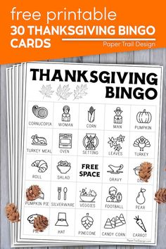 Print these fun free Thanksgiving bingo cards and use candy corn to mark your spaces for a fun classroom Thanksgiving game or a fun Thanksgiving game with the family. Thanksgiving Coloring Pages, Thanksgiving Activities For Kids, Party Printables, Free Printables, Party Themes, Party Ideas, Autumn Ideas, Paper Trail, Bingo Cards