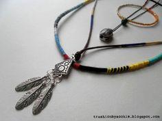 DIY: Ethnic necklace,   TUTORIAL: click on the image :) More DIY: trashionbysookie.blogspot.com