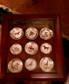 Frank M. Whiting horse coaster collection. All original drawings by Sam Savitt.