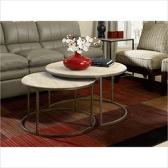 furniture: Hammary Modern Basics Cocktail Table in Travertine Top Textured Bronze  $475