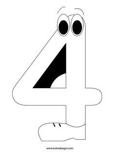 numero-4-da-colorare