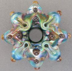 Leah Nietz - Handmade lampwork glass focal bead  - Spruce