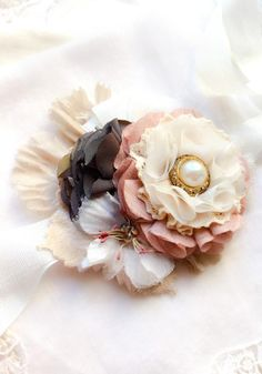 5b4ece97 Floral Wrist Corsage - Navy and Pink Pearl - Weddings and Prom Wedding  Corsages, Prom