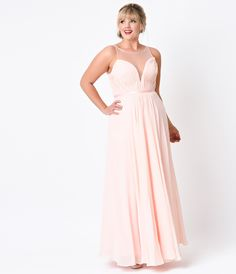 Ava Dress in Peach Ivory Blush - Plus Size | Dress in, Blush and ...