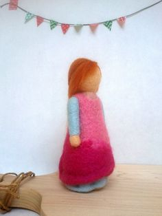 Felted Girl Doll - Waldorf  inspired felted doll by MyJacobsLadder on Etsy