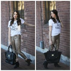 dcce082f867916 Tara Lynn's Boutique: Sequin Leggings: 2 Colors Black and Gold