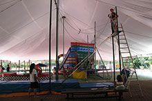 Oficina de circo para acampamento