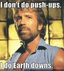 Chuck Norris in Soviet Russia. This is the truth. In America, Chuck Norris kills you. In Soviet Russia, Chuck Norris STILL kills you. in soviet russia, chuck norris kill all bears in siberia. Chuck Norris Memes, Funny Quotes, Funny Memes, Hilarious, Jokes, Funny Fails, Push Up, Gym Humor, I Laughed