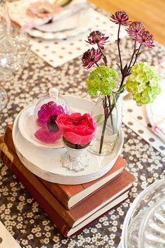 Casual look for flowers.  Liberty Launch Party by decor8, via Flickr