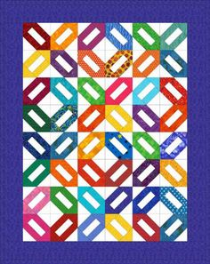 It's Easy to Sew a Scrap Quilt with Traditional Cracker Quilt Blocks: Another Cracker Quilt Layout