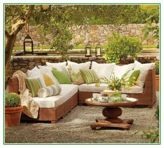 Amazing Outdoor Patio Cushions With Rattan Furniture