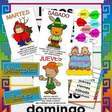 dia de la semana en español completa - Pesquisa Google