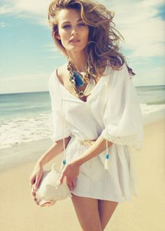 A Bold and Beautiful Necklace...love the cover up