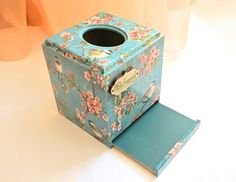 Napkin by DecoriaShop Tissue Box Covers, Tissue Boxes, Tissue Holders, Decoupage, Your Location, Vintage Crafts, Etsy Shipping, I Shop, Diy And Crafts