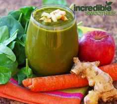 Carrot Apple Ginger Green Smoothie Recipe - Incredible Smoothies