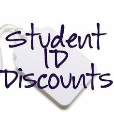 Student ID Discounts- I DIDNT KNOW HALF OF THESE. AMAZING.  I wonder if I can still pass as myself almost 10 years now.