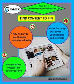 Pinterest best practices and tips. Event Marketing, Marketing Tools, Email Marketing, Internet Marketing, Social Media Ad, Social Media Marketing, Business Funding, Article Writing, Online Marketplace