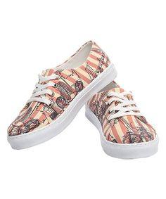 Look at this #zulilyfind! Orange Stripe Canvas Lace-Up Sneaker #zulilyfinds