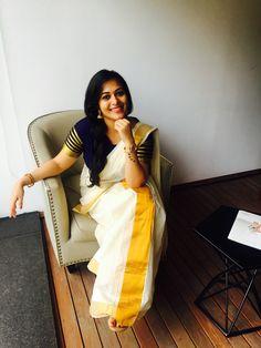 Onam attire , Onam wear , ethnic ,Kerala Onam Saree, Kasavu Saree, Handloom Saree, Set Saree Kerala, Kerala Saree Blouse Designs, Saree Poses, Stylish Sarees, Elegant Saree, Indian Designer Outfits