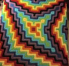 3 pronged square and ripple blanket by Rik Gillette