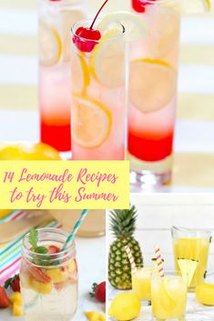If you want the summer cocktails without the hangover here's the latest pimped drink trend. 14 summer lemonade recipes for you to try. Care Skin Condition and Treatment Oil Makeup Easy Cocktails, Summer Cocktails, Cocktail Recipes, Drinks Alcohol Recipes, Alcoholic Drinks, Lemon Cupcakes, Savoury Cake, Quick Recipes, Clean Eating Snacks