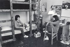 vintage everyday: Incredible Photos Show How College Dorm Life Has Changed in the U.S Over 100 Years