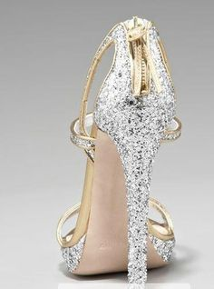 """I believe there's an inner power that makes winners or losers. And the winners are the ones who really listen to the truth of their hearts"". Sylvester Stallone.  www.colettewerden.com #colettewerden #shoe #style #fashion #stylist #woman #silver #sparkle #goldstrap #bold"