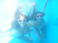 Fun picture to take underwater. And if you wear sunglasses, people won't know if your eyes aren't open...