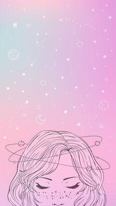 Cute Galaxy Wallpaper, Wallpaper Pastel, Wallpaper Tumblr Lockscreen, Wallpaper Space, Aesthetic Pastel Wallpaper, Iphone Background Wallpaper, Kawaii Wallpaper, Love Wallpaper, Dibujos Zentangle Art