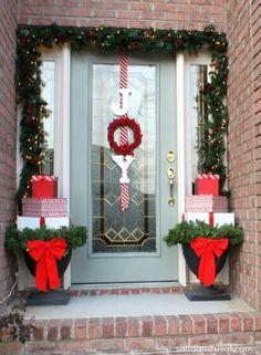 Present Topiaries, Joy Wreath, + Christmas Home Tour by gina