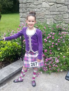 Dress Heather Stewart tartan Scottish Highland Dance, Stewart Tartan, Harajuku, Dancing, Purple, Jackets, Dresses, Style, Fashion