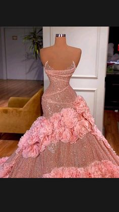 Prom Girl Dresses, Glam Dresses, Prom Outfits, Beautiful Prom Dresses, Event Dresses, Pretty Dresses, Dress Prom, Pink Dress, Evening Dresses For Weddings